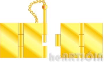Fechos usados em joalharia