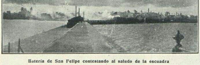 Hubo un tiempo en el que la Escuadra y otros buques militares entraban con el estruendo de las salvas de ordenanza. Las propias y las que se disparaban desde la batería de San Felipe como respuesta.
