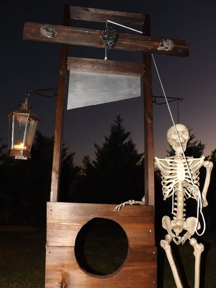 how to get out of a guillotine