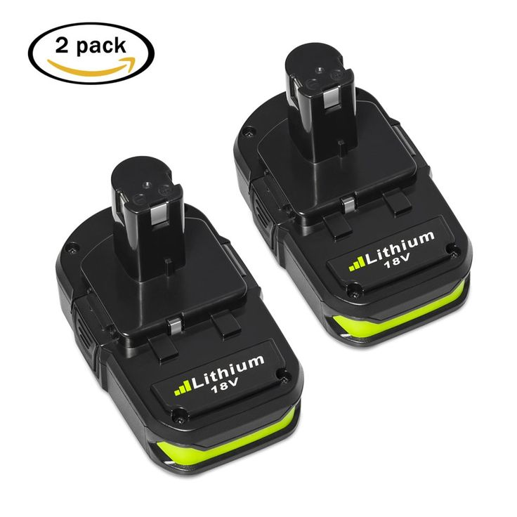 Mrupoo 2 Pack 18V 2.5Ah Lithium Ion Replacement Battery for Ryobi ONE+ Plus P102 P103 P104 P105 P107 P108 P109 P122 Cordless Tools
