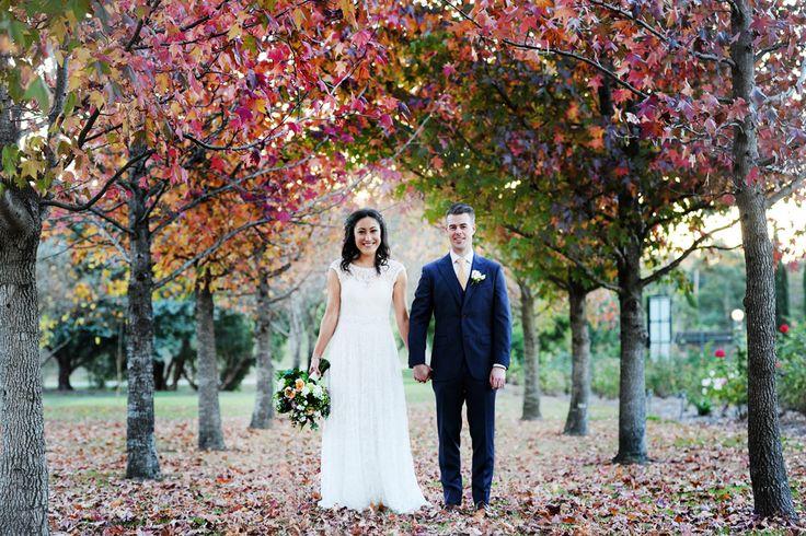 Autumn wedding - beautiful colours for a perfect wedding photo backdrop  ~ Tizia May Photography ~