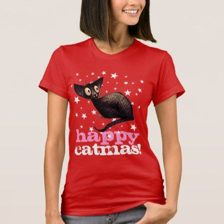 Happy Catmas Cat! Funny Christmas T-Shirt - tap, personalize, buy right now!