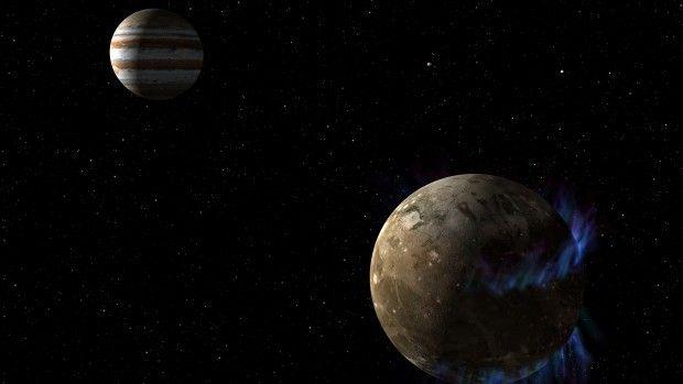 Novas imagens obtidas pelo telescópio Hubble podem ajudar a entender alterações observadas na aurora de Ganimedes, a maior lua de Júpiter. Pesquisas da Nasa apontam para a existência de um oceano de água salgada sob a crosta gelada da lua (Foto: Nasa) - http://epoca.globo.com/tempo/filtro/fotos/2015/03/fotos-do-dia-13-de-marco-de-2015.html