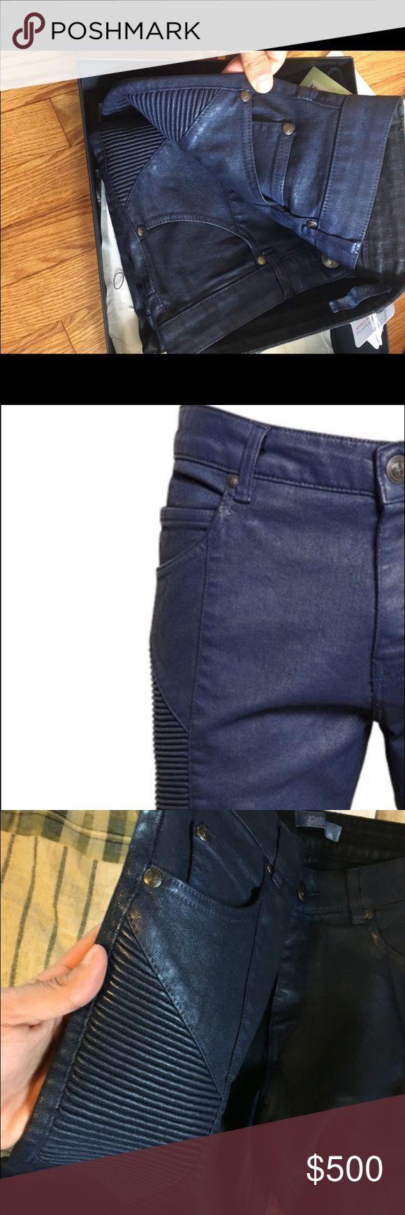 Pierre Balmain Brand new Pierre balmains. Come with tags. Size 31. Waxed denim. Pierre Balmain Jeans Skinny