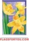 1 left - Dewdrop Daffodils Garden Flag