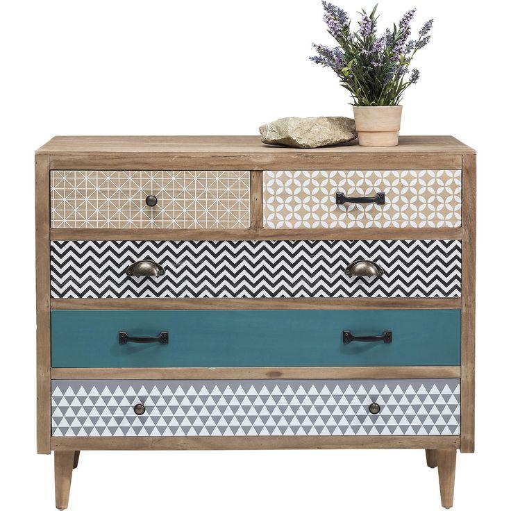 Capri dressoir 5 lades bruin - Kare Design