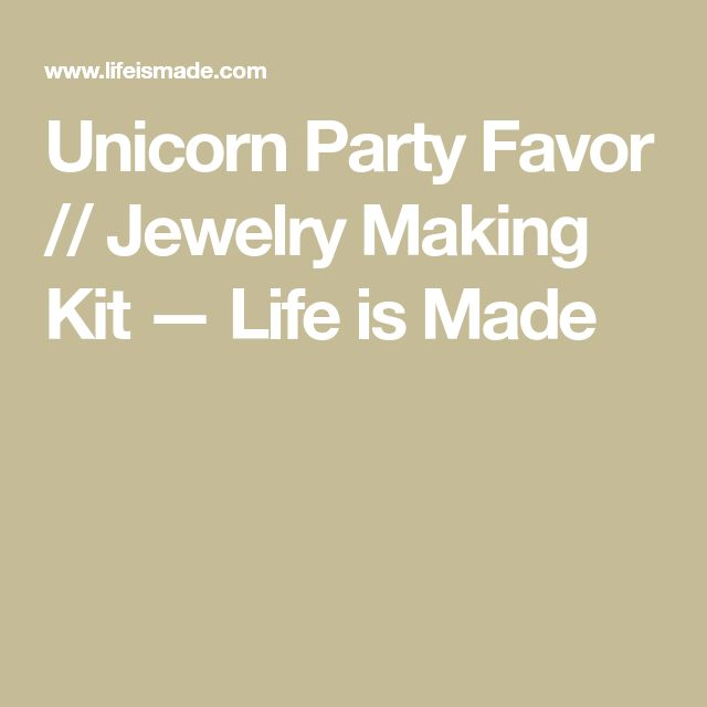 Unicorn Party Favor // Jewelry Making Kit