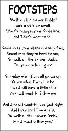 footprints father's day poem | Little Stars Learning: Father's Day Craft...