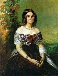 Maria Isabel de Alcantara Brasileira (1830 - 1896). Daughter of Pedro IV of Portugal and Domitila de Castro.