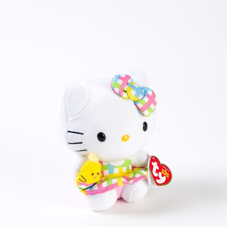 "5.5"" Easter Plaid Hello Kitty Ty Beanie Baby Price $10.00"