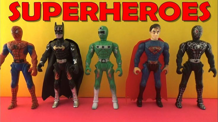 Superheroes Surprise Toys for Kids|Spider-man,Batman,Superman,Black Spid...