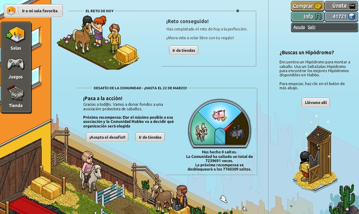 Background of Habbo Hotel (client page) Horses campaing