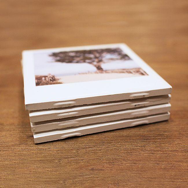 Polaroid Coasters with Instagram Prints DIY 1