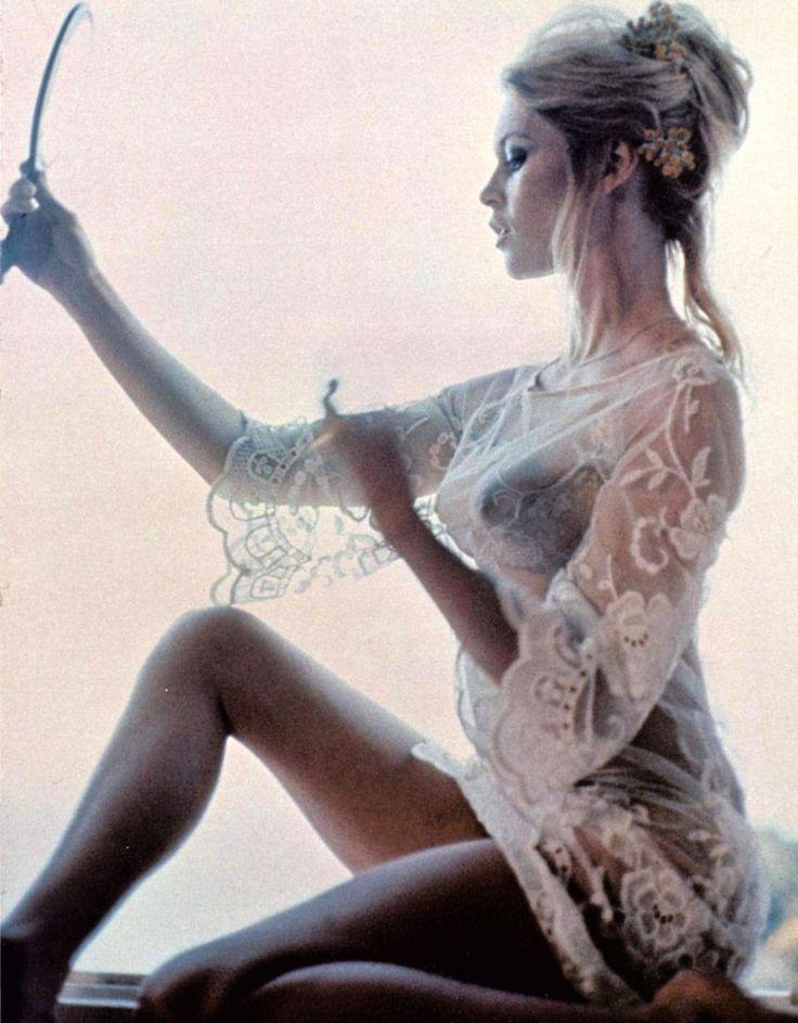 Brigitte Bardot.  Love the film grain. Helps show the era in which it was taken.