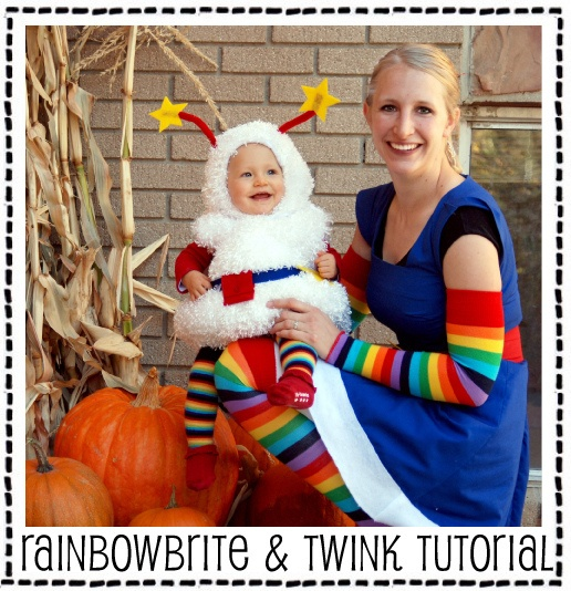 Rainbow Brite and her trusty sidekick Twink Halloween costume. OMG!  Love this - Rainbow brite was my fav (...still kinda is)