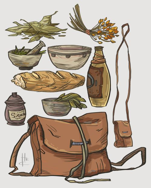 Item Sketches 2 by *Nafah on deviantART