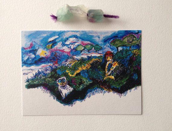 Cartolina regalo biglietti d'auguri illustrazione di theberingsea