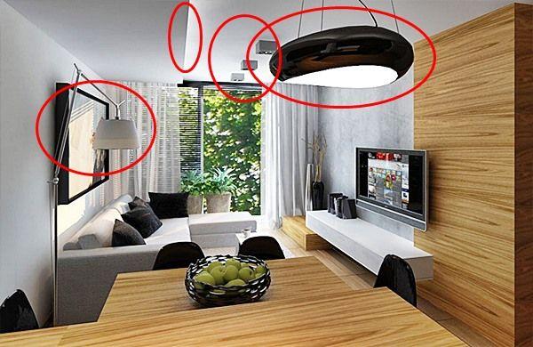 iluminação sala integrada estar jantar cozinha 1