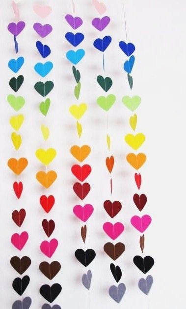 rainbow heart banner from MGMartSupplies on etsy