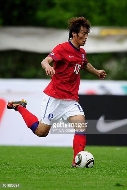 South Korea's Shin HyungMin participates in their friendly match against Belarus in the local stadium of Kufstein on May 30 2010 prior to the FIFA...