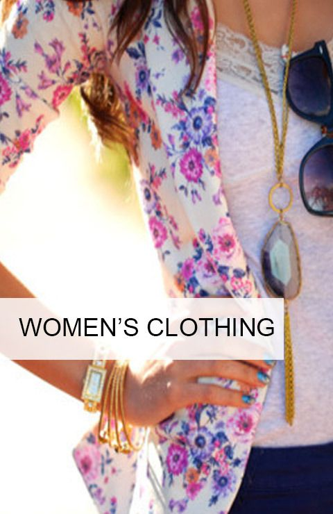 We have a wide variety of women's fashion available on our online boutique!