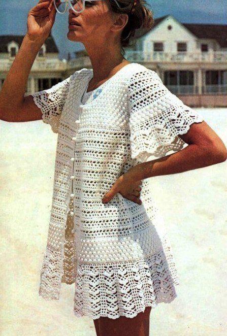 fishnet robe crochet for summer - crafts ideas - crafts for kids
