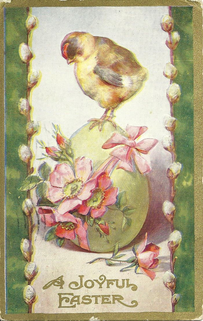 Vintage Easter postcard, 1910's