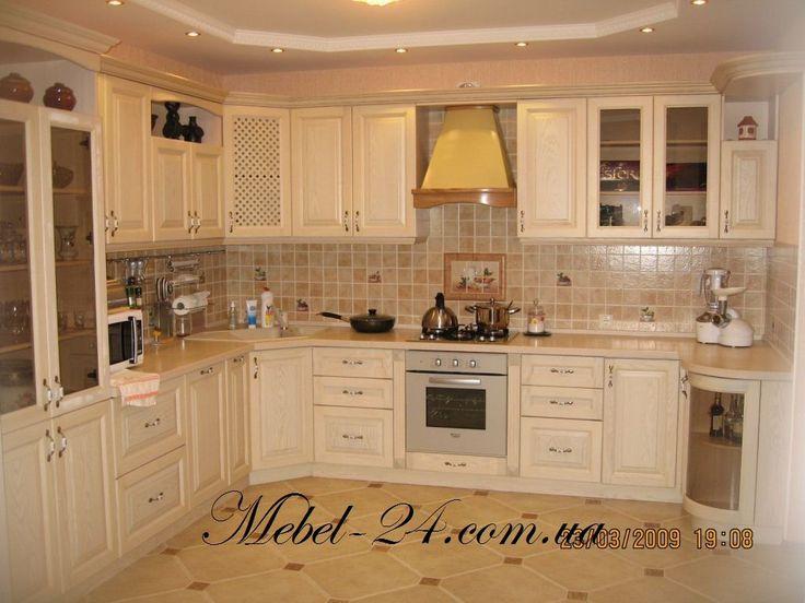 Кухня из дерева бук угловая, угловые кухни, интернет магазин Мебель-24, фото, цены
