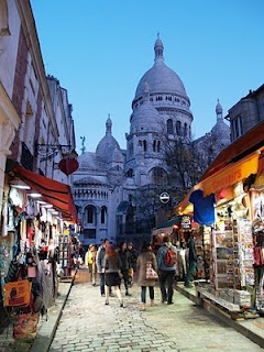 Little street leading up to Sacre Coeur, Paris
