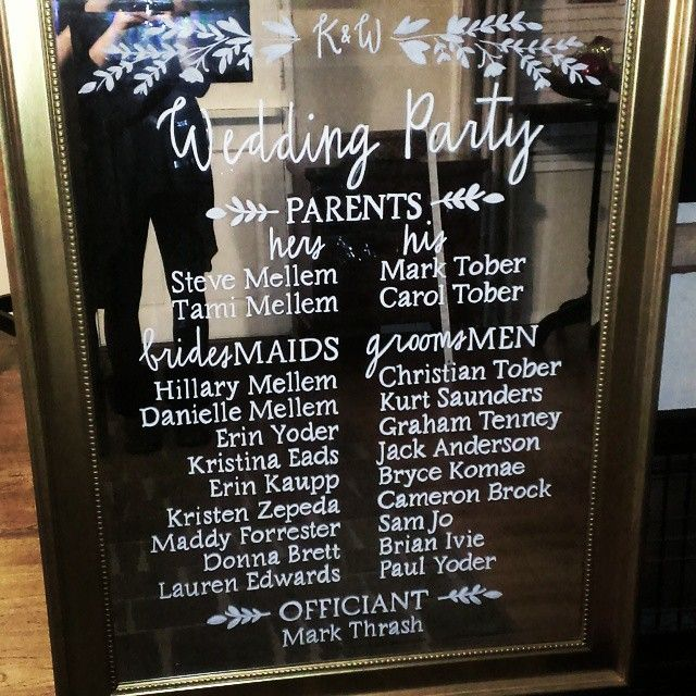 Ceremony program mirrored #weddingsign for #kwtoberfest @serraplaza coordinated by the amazing @megsdub of @greenappleeventco. Muah!  #carlypdesignstudio #mirrorsignage