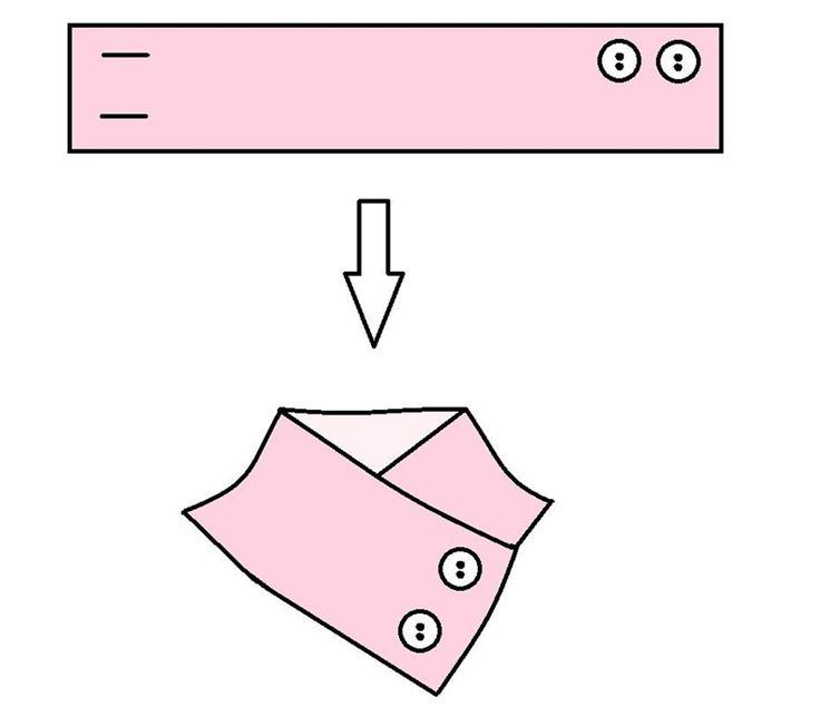 Как сшить оригинальный съёмный воротник-стойку