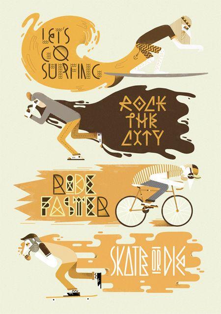 Jose Miguel Méndez illustration and beautiful typography - print | paper | illustration | typography | design