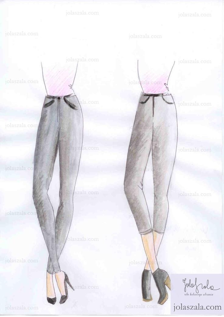 Szpilka czy obcas?       Spodnie obcisłe świetnie wyglądają ze szpilkami, a te kończące swą długość ponad kostką tworzą dobry mariaż z butami na grubym obcasie lub z botkami. on Jola Szala - Siła kobiecego ubrania  http://jolaszala.com/porady-joli/gdy-zakladasz-spodnie-zwroc-uwage-na/#sg2