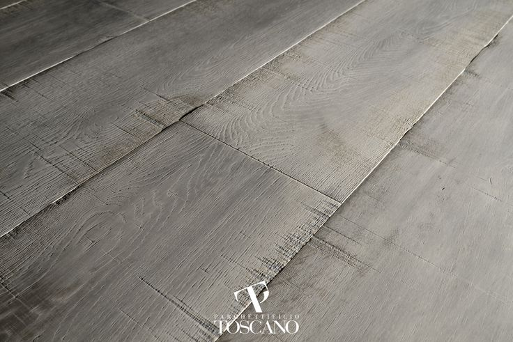 "French Oak, saw effect, exclusive ""naturalizzante finishing, light grey color"