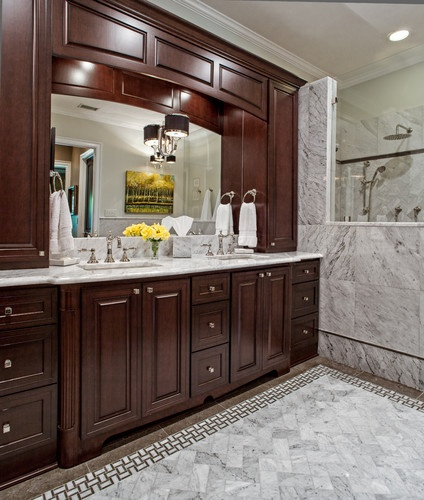 Best Bathrooms Images On Pinterest Carrara Marble Remodeling - Bathroom remodel cost charlotte nc