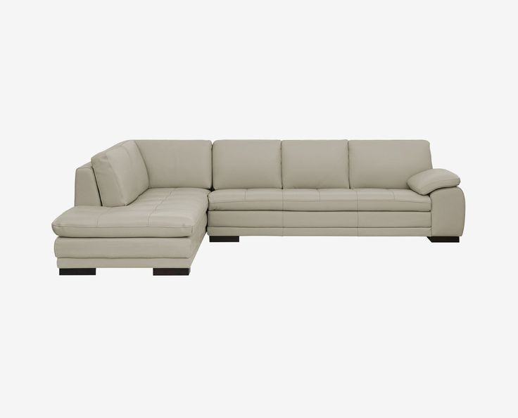 Cercis Leather Sectional Left Chaise