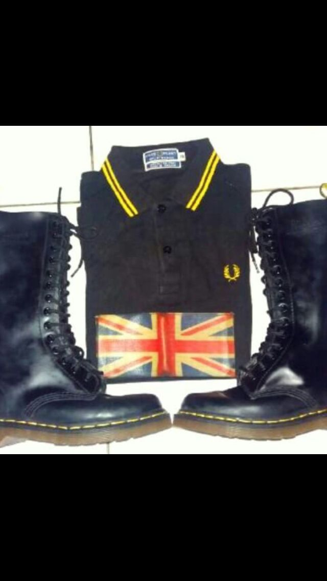 Dr.martens x fredperry x england