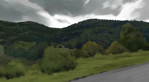 Virtual plein air: http://www.mapcrunch.com/p/50.749475_14.261843_259.29_-7.94_0