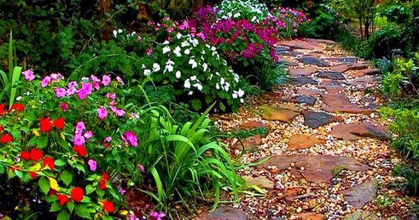 flagstone walkway with pebble filler - Yahoo Image Search Results