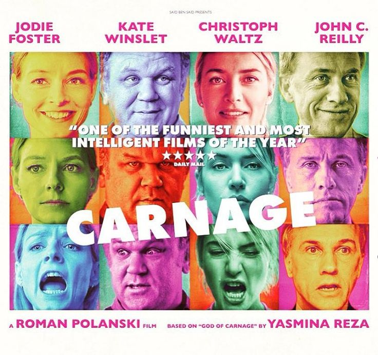 #amazing #film #movie #romanpolanski #carnage #play #goodofcarnage #jodyfoster #katewinslet #christophwaltz #johncreilly #laughter #emotions #anger #inspirational #filmproduction http://ift.tt/2m2RAqM #timBeta