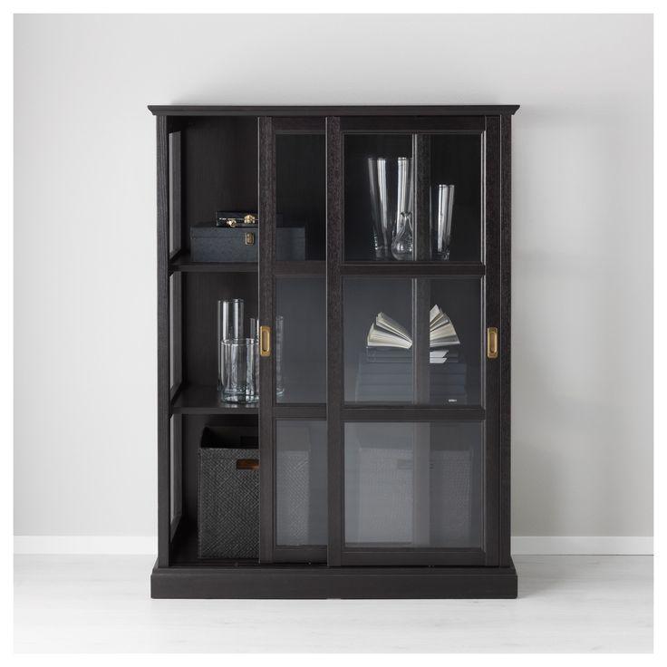 MALSJÖ vitrin, siyah, 105x141 cm | IKEA Türkiye