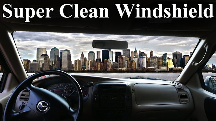 How to Super Clean the INSIDE of Your Windshield (No