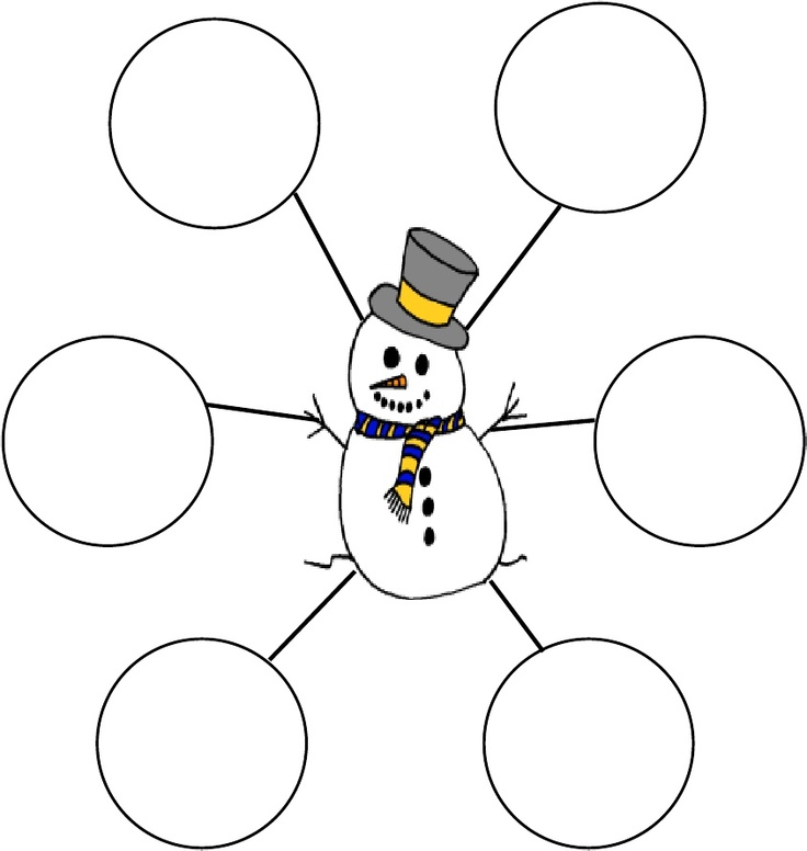 Snowmen at night writing activity for preschool