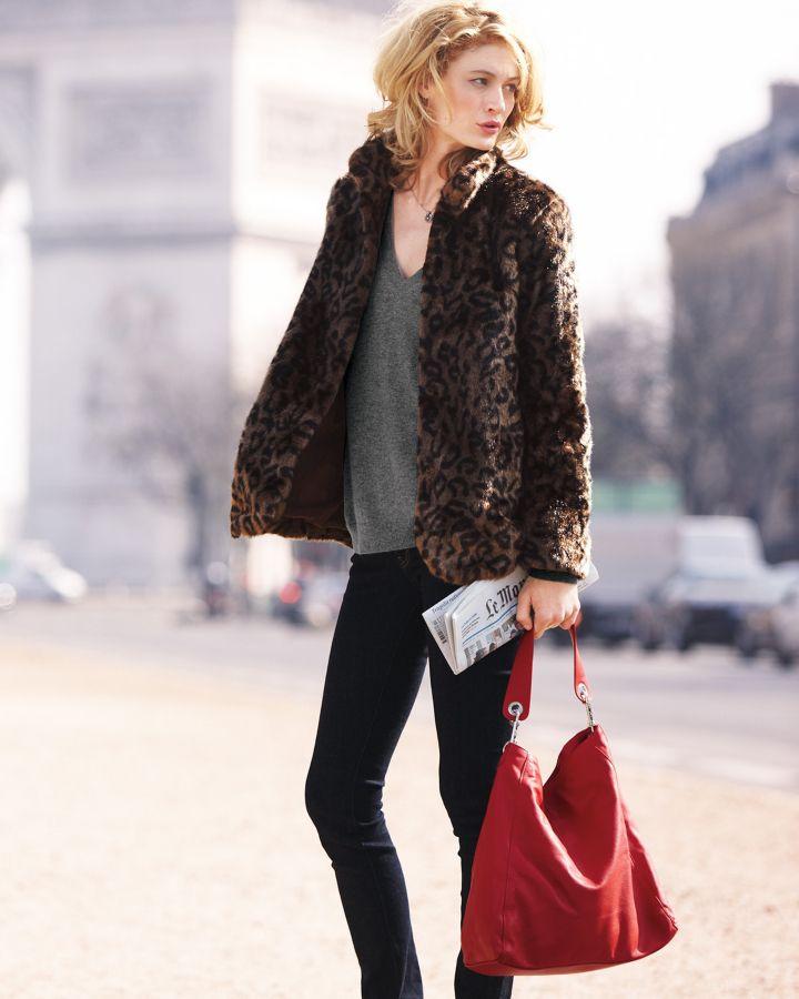 Velvet Faux Fur Coat exclusively for Garnet Hill