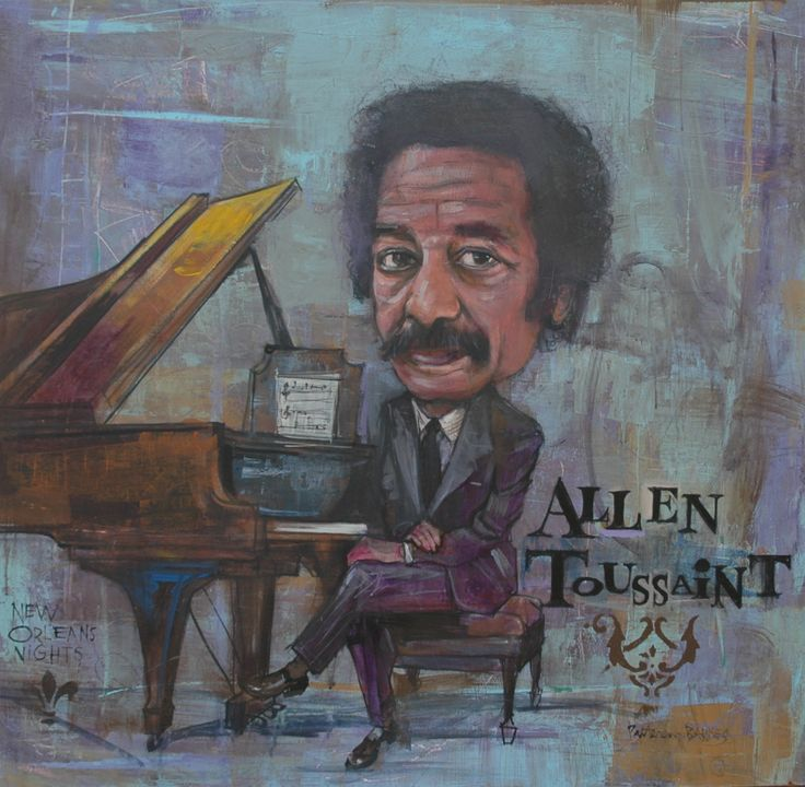 Allen toussaint acrylic on wood 36x48 by patterson for Patterson woods