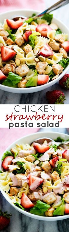 This yummy chicken and strawberry salad will become your new favorite!