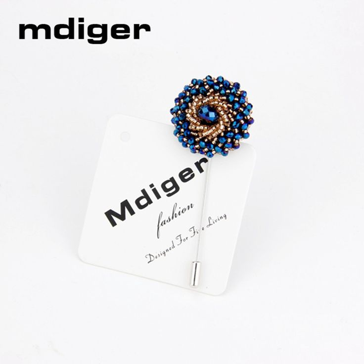 Mdiger Men's Brooches Rhinestone Brooch Pins Handmade Crystal Brooches Jewelry High Quality Men Suit Crystal Brooch Lapel Pins