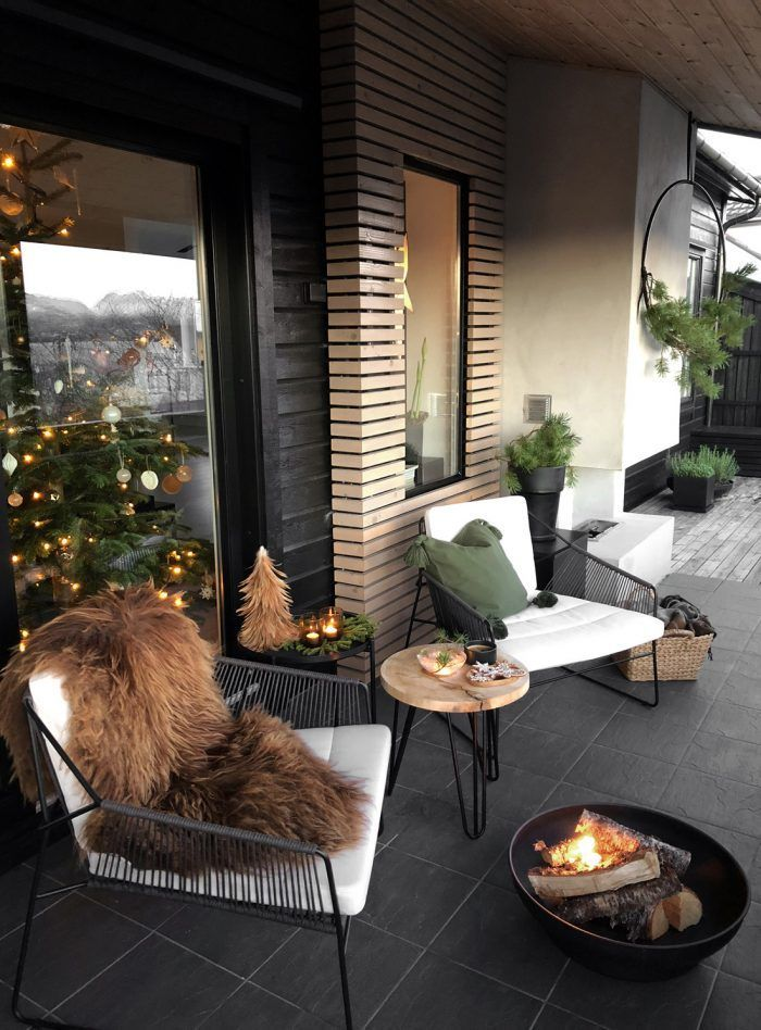 NOEL A LA TERRASSE   Exterieur en 2019   Terrasse maison ...