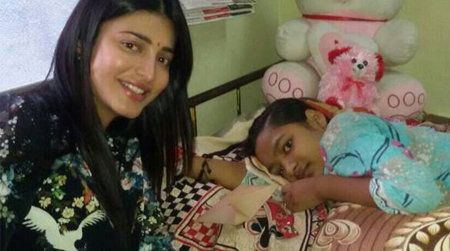 Shruti Haasan shows Compassion for Cancer Fighting Fan!