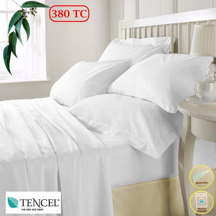 380TC Tencel White Sheet Set Queen by Accessorize